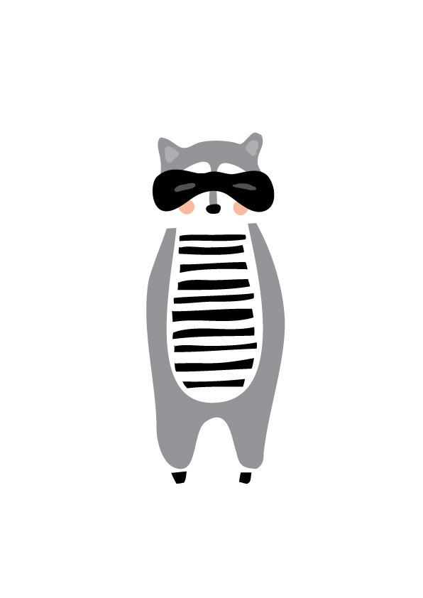 Racoon Art Print, Animal Illustration, Drawing, Illustration, Children Room, Kids room art, Nursery room Art, home decor by dekanimal on Etsy