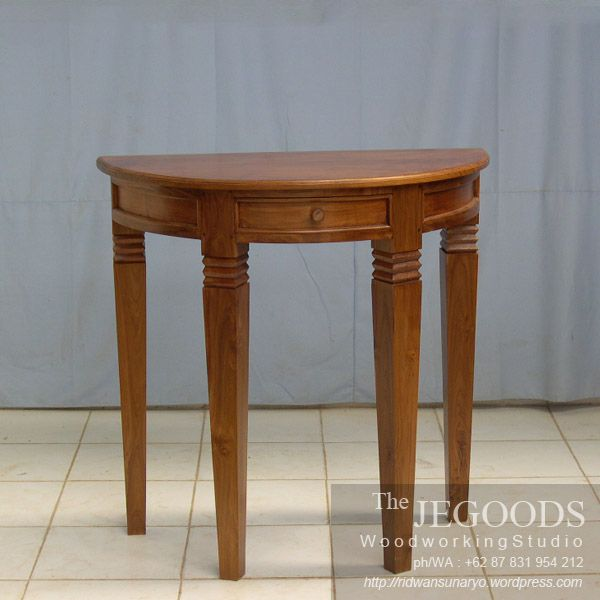 We produce contemporary wall table furniture made of solid teak wood Indonesia. Best traditional #handmade craftsmanship with high quality at affordable price. #teakfurniture #sidetable #furniturefactory #furniturewarehouse #teaktable #colonialfurniture #indonesiafurniture