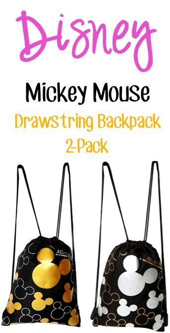 Disney Mickey Mouse Drawstring Backpack Sale: 2-Pack for $11.50!