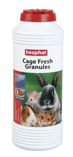 Cage Fresh Granules freshen cages and hutches quickly and simply. Cage Fresh Granules contain friendly microbes that neutralise the odours in urine that cause that characteristically unpleasant hutch and cage smell. For best results simply sprinkle under the bedding in a freshly cleaned hutch or cage.