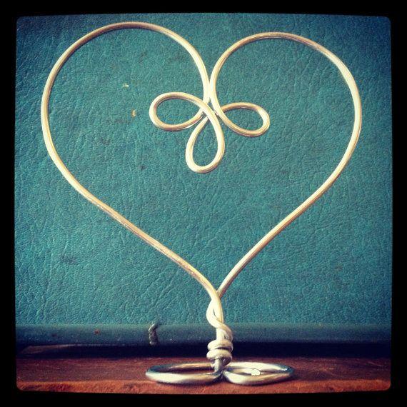 Celtic Knot Heart Wedding Cake Topper