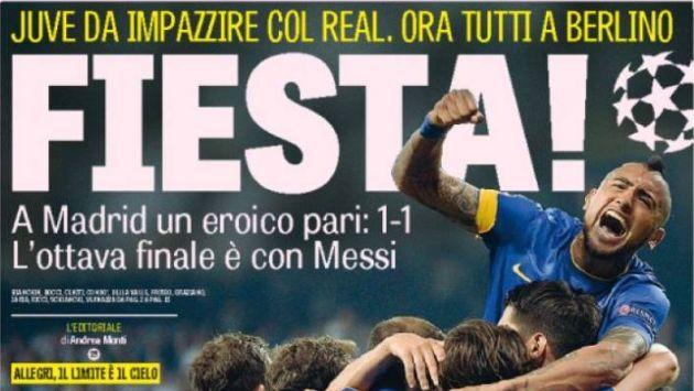 Real Madrid vs. Juventus: Prensa italiana de fiesta por clasificación de la 'Vieja Señora' #Peru21