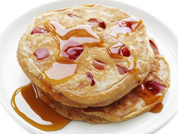 whole-wheat apple pancakes: Food Network, Whole Wheat Apple, Healthy Breakfasts, Apple Pancakes, Apples, Pancake Recipes, Healthy Recipes, Breakfast Recipes
