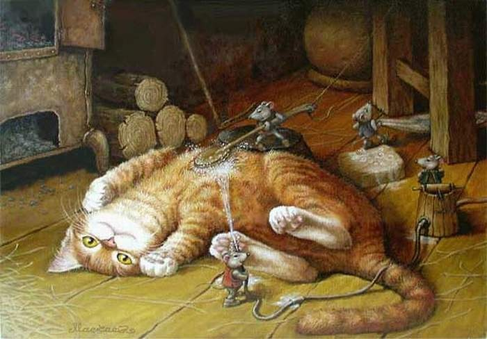 Bathing the Red Cat  | by Alexander Maskaev