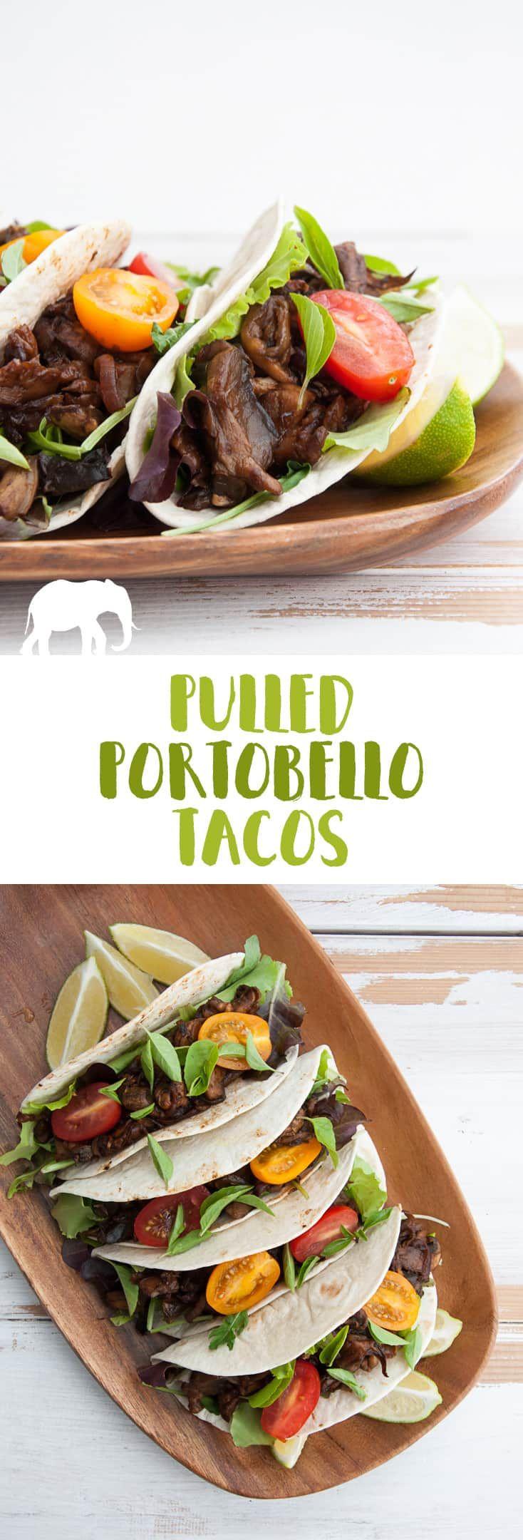 Vegane Pulled Portobello Tacos via @elephantasticv