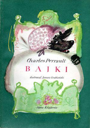 Janusz Grabiański's Cover illustration for Bajki/Fairy Tales by Charles Perrault