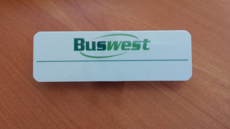 Printed badges for the Buswest drivers