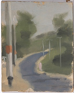 BECKETT , Clarice |not titled (road with telegraph poles)