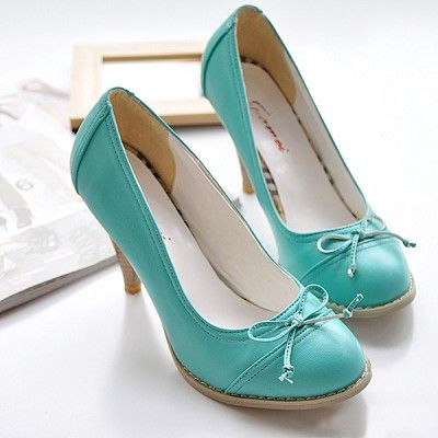 Teal Leather Shoes