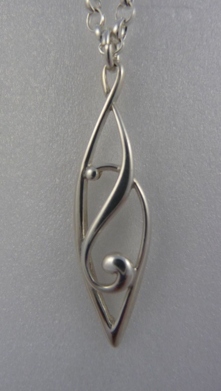 OLA Gorie Celtic Treasures Silver Carron Pendant Chain Boxed Scottish | eBay So simple but stunning to me none the less