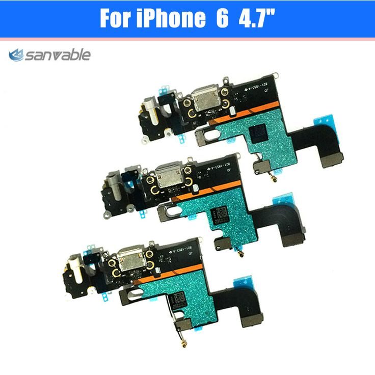 "For iPhone 6 4.7"" High Quality Headphone Audio Jack Connector MIC Charge Charging Dock Port Flex Cable Repair Parts"