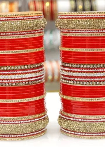 Buy Wedding Chura | Punjabi Chuda |Bridal Chura India | AD Diamond Chura | Designer Chooda Online | Suhag Chura| Wedding Bangles