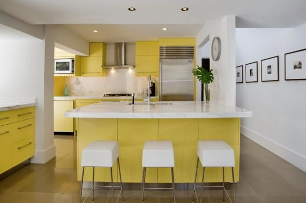 bright yellow and white decorating ideas sunny color combinations for modern interiors on kitchen interior yellow and white id=40520