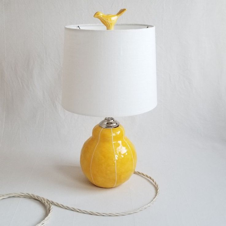 Good morning sunshine! Wake p with a cheery yellow bedside table lamp