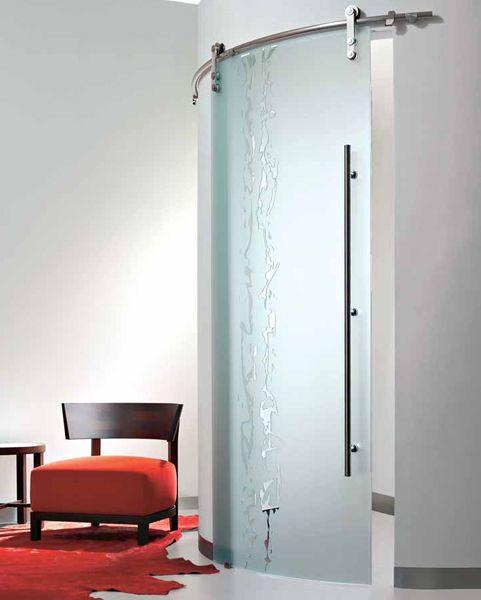puerta corredera de cristal casali system curva frammenti de maydisa maydisacom