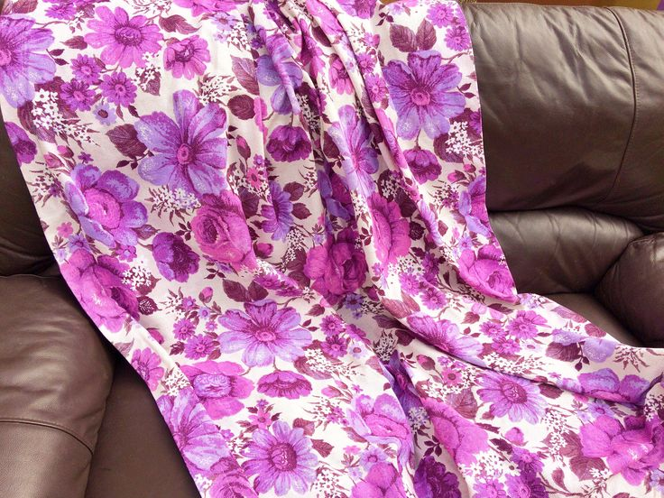 vintage floral barkcloth curtains / 1960s mid century barkcloth fabric / retro purple and pink curtain panels / pair of vintage curtains by ArtemZoologie on Etsy https://www.etsy.com/listing/537673395/vintage-floral-barkcloth-curtains-1960s