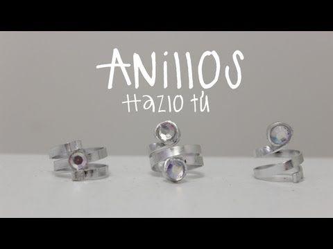 Cómo hacer anillos con alambre plano / Accesorios de Moda - Hablobajito - YouTube