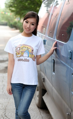 Anime My Neighbor Totoro Womens Girls Cartoon T Shirt T Shirts Cotton Painted | eBay