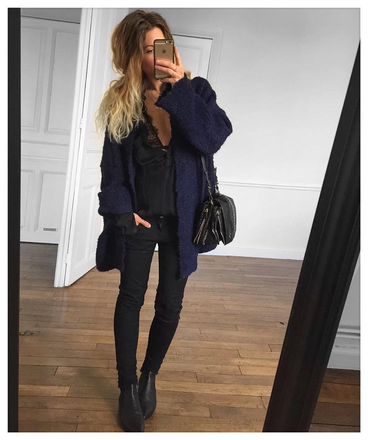 Bleu/noir veste Arrow #eponymcreation sur @meleponym chemise #Zara (old) sg (old) et Jean #aninebing sur @cyrielleforkure boots #eijkamsterdam sur @eijkamsterdam #ootd by meleponym