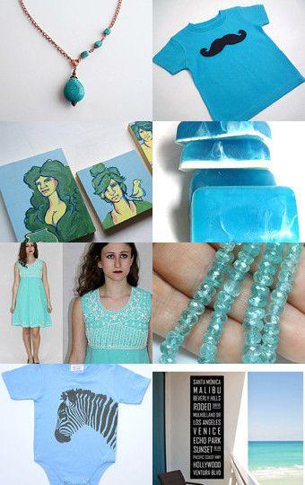 Gorgeous turquoise blue treasury!