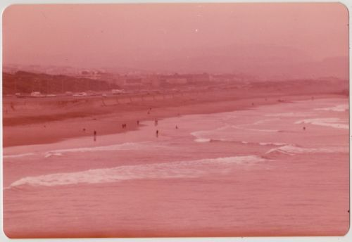 Vintage 70s PHOTO Pink Monochrome Minimal Beach Seascape in Collectibles, Photographic Images, Contemporary (1940-Now), Other Contemporary Photographs | eBay