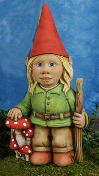 Female Garden Gnomes: Tallula Girl Gnome - Ceramic Gnomes To Paint