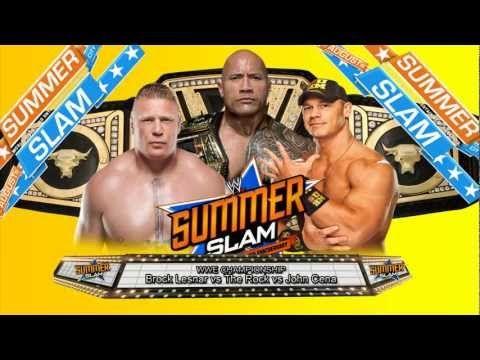 WWE Summerslam 2013 Match Card (Custom)