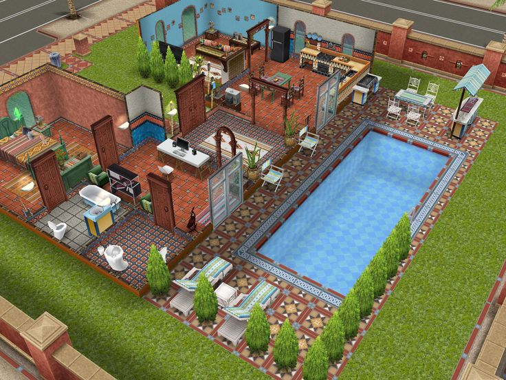 Nice design would lengthen the foryer and add second for Pool design sims 3