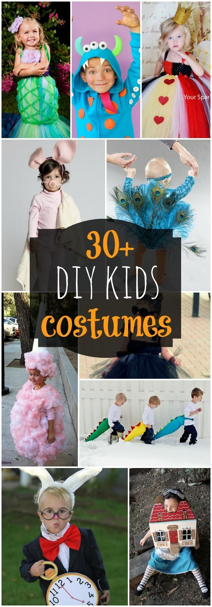 DIY costumes for kids! SO many adorable Halloween costumes that you can make for your kids!