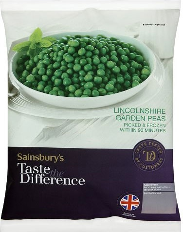 Sainsbury's Taste the Difference Garden Peas (750g)