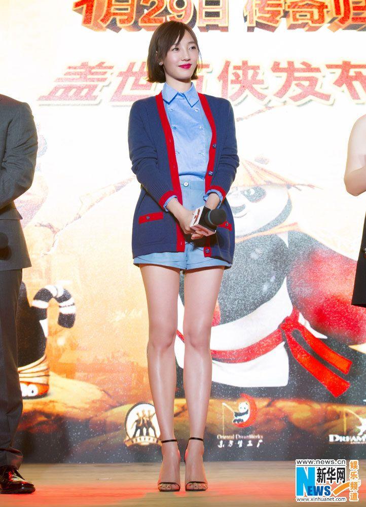 """Actress Bai Baihe dubs """"Kung Fu Panda 3""""   http://www.chinaentertainmentnews.com/2015/12/actress-bai-baihe-dubs-kung-fu-panda-3.html"""