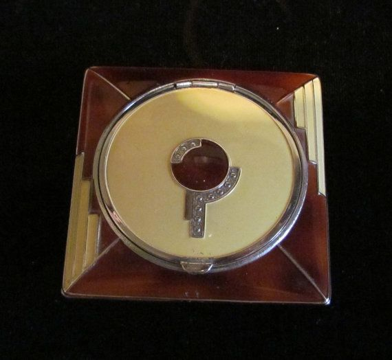 Vintage+Compact+Powder+Compact+Rouge+Compact+by+classiccollector,+$185.00