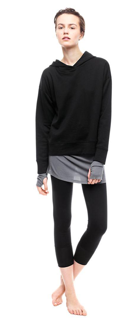 Shiny Hood Top - Soft Sport - Shop Woman - Filippa K