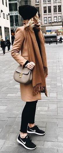 #winter #fashion / camel + camel
