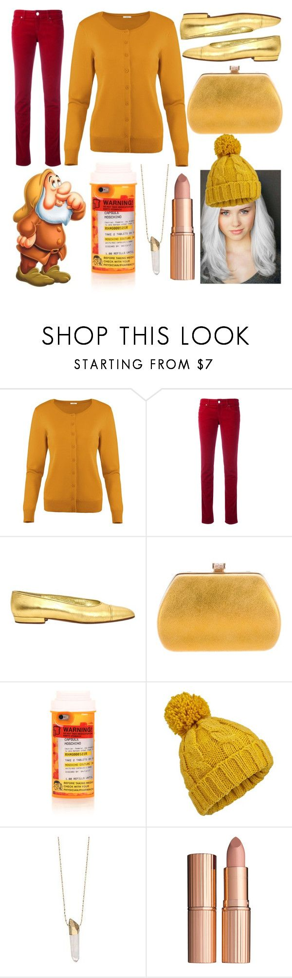 """""""Sneezy!"""" by sisibff ❤ liked on Polyvore featuring Armani Jeans, Chanel, Judith Leiber, Moschino, Miss Selfridge and Charlotte Tilbury"""