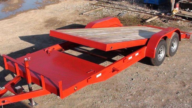 12k 18+4 Tilt Bed Skid Steer Hauler Equipment Trailer