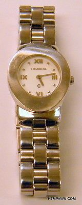 Philippe Charriol Geneve Azuro Oval Series Ladies White Dial Swiss Quartz Watch
