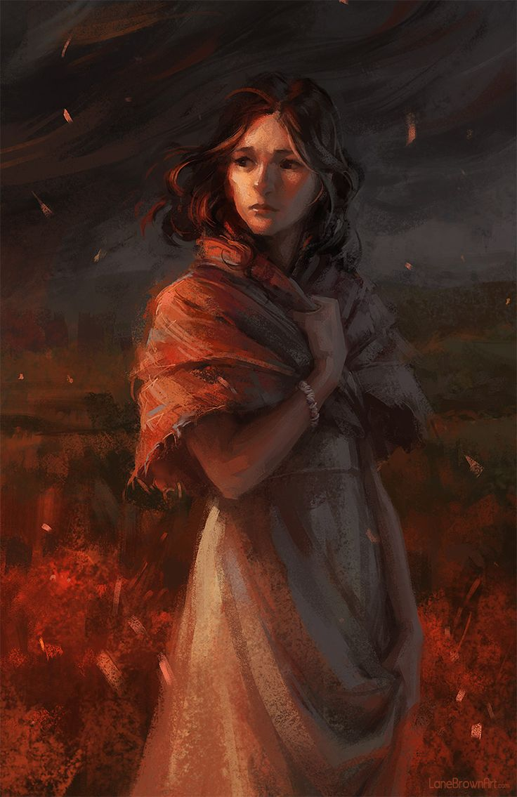 BONUS PIC - Alive For Art Inspiration | Artist interview w/ pics! Lane Brown is an award-winning freelance illustrator...Scottish Female Looks Back To See Her Mill Burning To The Ground