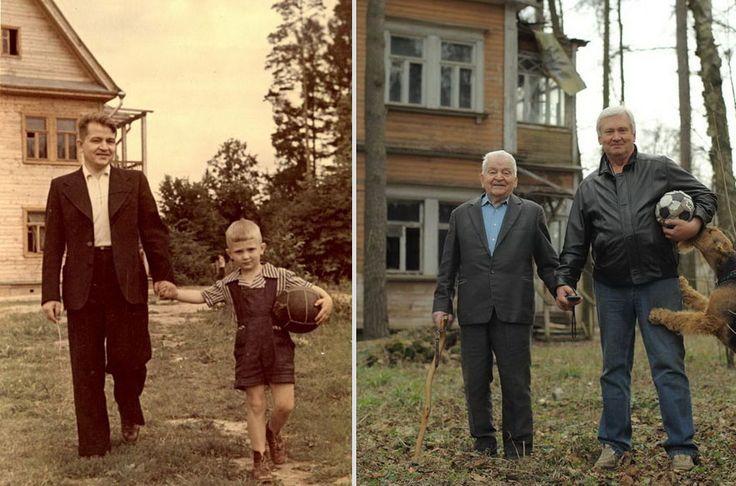 Padre e figlio 1949 e 2009
