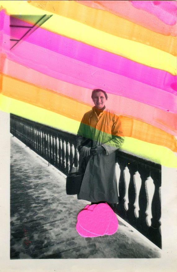 Dada Collage Art Style Realized On Vintage por NaomiVonaArt en Etsy