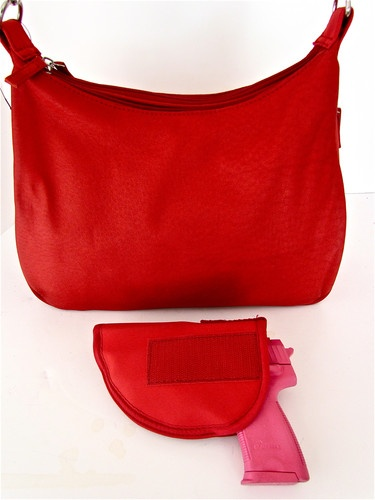 29 Red Leather Concealment Concealed Carry CCW Holster Gun Pistol Handbag Purse | eBay