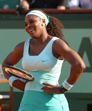 Serena Williams and her winning smile