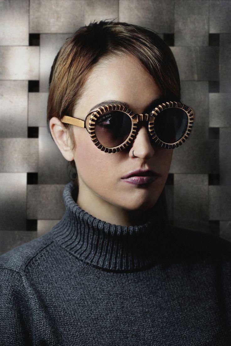 Beatuiful Round Wooden Sunglasses by Rota Dentata. New Collection 2015 #woodsunglasses