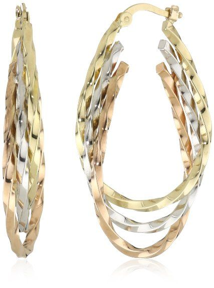 69 best tricolor jewelry images on Pinterest Gold decorations