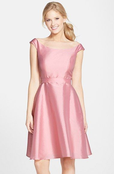 Alfred+Sung+Dupioni+Fit+&+Flare+Dress+available+at+#Nordstrom