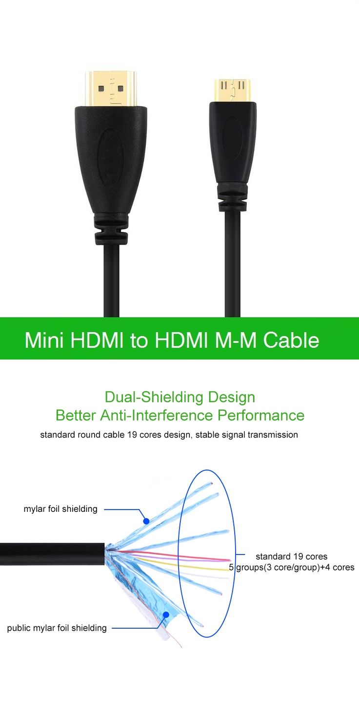 0.5m 1M,1.5m,2M,3M,5M High speed Gold Plated HDMI TO MINI HDMI Plug Male-Male HDMI Cable 1.4 Version 1080p 3D for TABLETS DVD