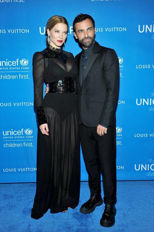 Léa Seydoux en robe Louis Vuitton et Nicolas Ghesquière