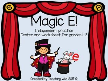 Another fun freebie!!!  My students loved this Magic E center!  I made my own magic wants with paint sticks and used the cards and worksheet provided.  It brought just enough whimsy to that pesky silent e!  Magic E