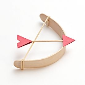 Popsicle stick bow and arrow