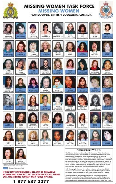 How can this happen in our country? 3,000 missing and murdered Aboriginal women since 1990! Disgusting!